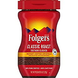 Folgers Classic Roast Instant Coffee - Best Instant Coffee 2020 Reviews