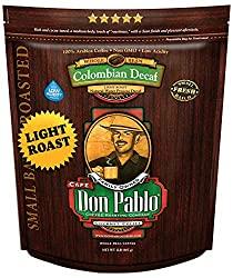 Cafe Don Pablo Light Roast Decaf - Best Decaf Coffee