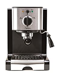 Capresso EC100 with 15 bars of pressure and cup warming tray.