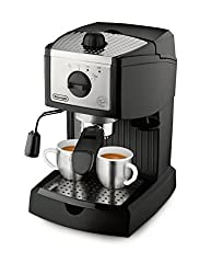 De'Longhi EC155 with 15 bar pressure and one year warranty.