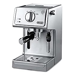 DeLonghi ECP3630 Espresso Maker with 15 bar pressure and 2nd tier drip tray for larger cups.