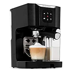 Klarstein Passionata with stainless steel casing, 20 bar pump pressure, and 43oz water tank.