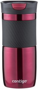 Contigo SnapSeal Byron Stainless Steel Vacuum Insulated Travel Mug with easy grip