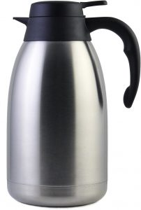 Cresimo Stainless Steel Thermal Coffee Carafe, Double Walled Vacuum Flask, 68oz