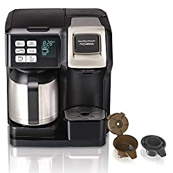 Hamilton Beach 49976 Flexbrew Coffee Maker with pod holder and single serve brew basket.