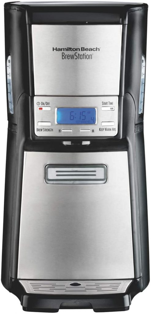 Hamilton Beach BrewStation 12 Cup Coffee Maker, No Carafe, Programmable