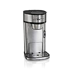 Hamilton Beach Scoop Single Serve Coffee Maker functions like a drip machine.