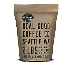 Real Good Coffee Co Whole Bean, 100% Arabica, French Roast, 2lb Bag