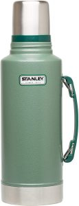 Stanley Classic Vacuum Bottle with handle, 1.1 quart in Hammertone Green