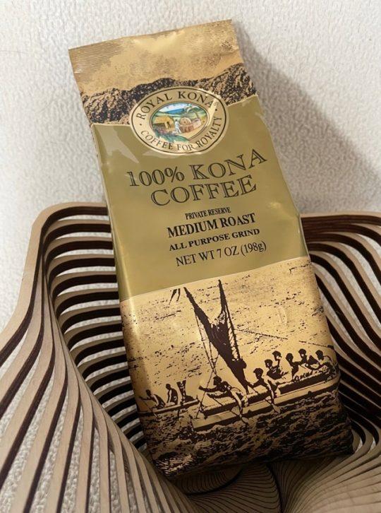 Royal Kona 100% Kona Coffee Medium Roast in all purpose grind