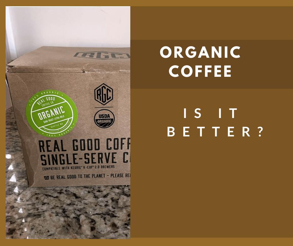 Best Organic Coffee K-Cups Box of Real Good Coffee Co Dark Roast
