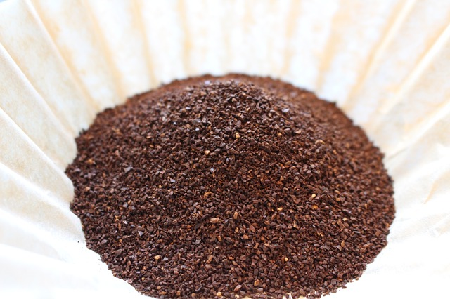 Paper Coffee Filter With Ground Coffee